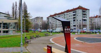 """UniCredit Banka poklonila """"pametnu klupu"""" stanovnicima Studentskog grada"""