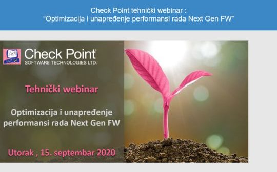 "Check Point tehnički webinar : ""Optimizacija i unapređenje performansi rada Next Gen FW"""