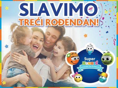 Super Klubić slavi treći rođendan i nagrađuje