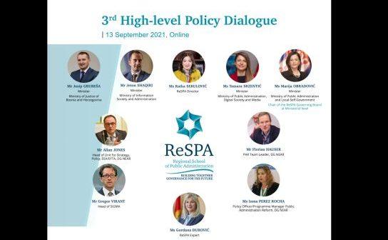 Politički dijalog na visokom nivou definisao strateški pravac razvoja reforme javne uprave regiona u narednom jednogodišnjem periodu